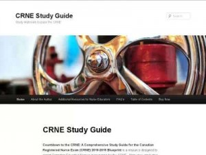 Screenshot of CRNE Study Guide